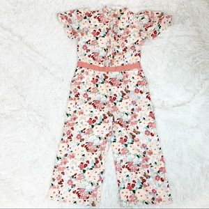 Janie and Jack floral Jumpsuits short sleeves